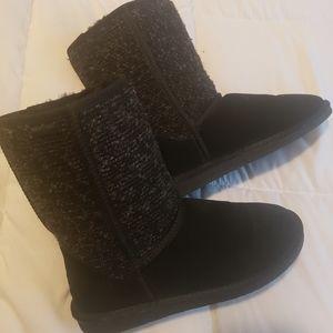 Black and Grey tweed boots
